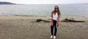 hadlee at beach